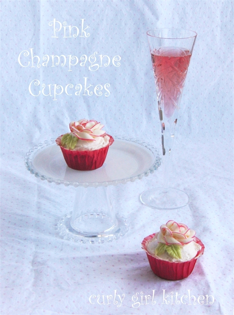 Raising my glass to the End of an Era, with Pink Champagne Cupcakes
