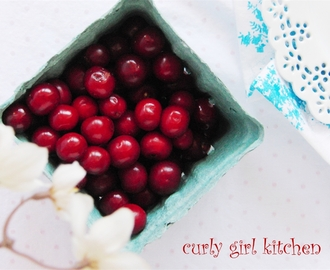 Pie Cherries and Red Currants - from the farm to our table...
