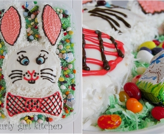 How to Make an Easter Bunny Coconut Cake: a step by step photo guide, Part 2
