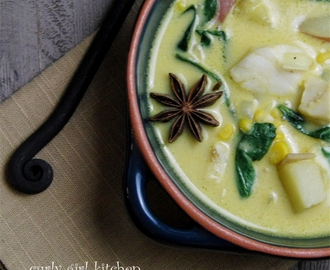 Curried Coconut Potato and Fish Soup