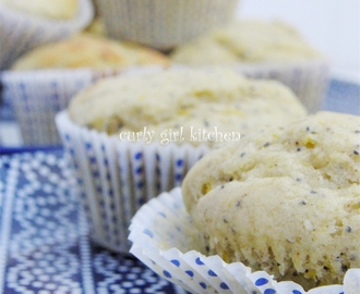 Orange Poppyseed Muffins with tangy Orange Curd and Mimosas...