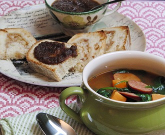 Soups, Stews and Sweet Potatoes, and the Mystery of the Disappearing Spinach...