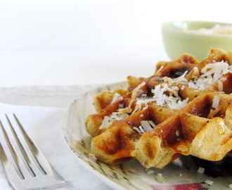 Toasted Coconut Cream Waffles with Greek Yogurt...  and the Changing of the Seasons