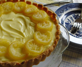 Lemon Cream Cheese Tart makes a happy Dad on Father's Day