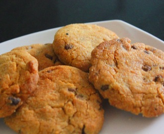 Egg less Choco chip Cookies with Whole wheat flour