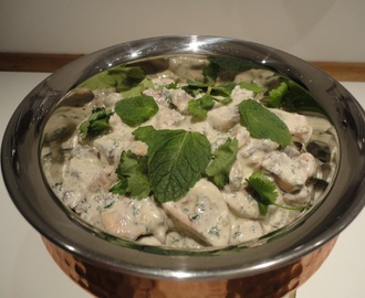 Balti Mushrooms in a Creamy Garlic Sauce