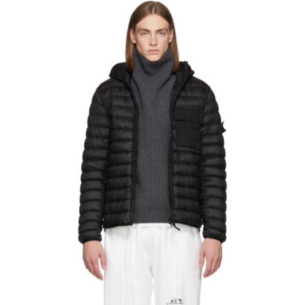 Stone Island Black Down Jacket