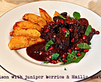 Venison stew with juniper berries and Maille mustard (Maille culinary challenge)