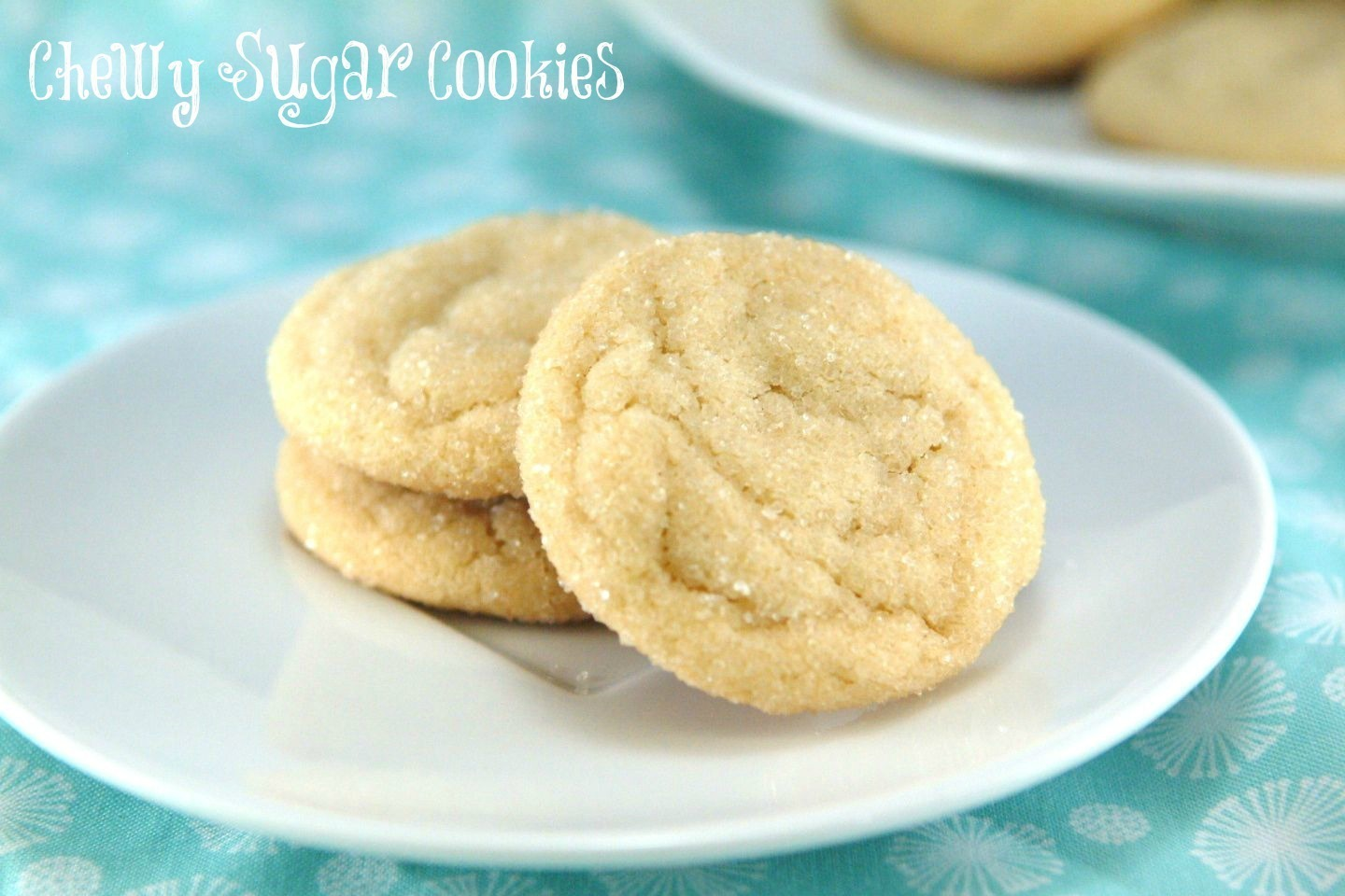 {2nd Day of Christmas} Chewy Sugar Cookies