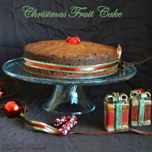 Christmas Fruit Cake/ Plum Cake- No Alcohol Version