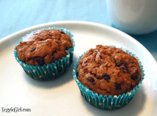 Peanut Butter Chocolate Chip Banana Muffins
