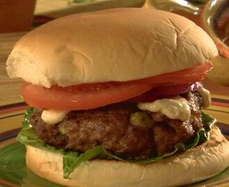 Cajun Pork Burgers with Spicy Remoulade Sauce