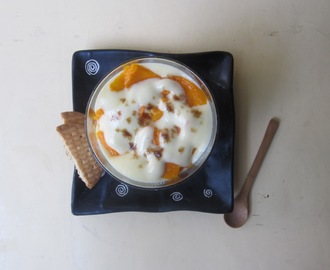 A Romantic Dessert for Two - Mango Gratin with Sabayon