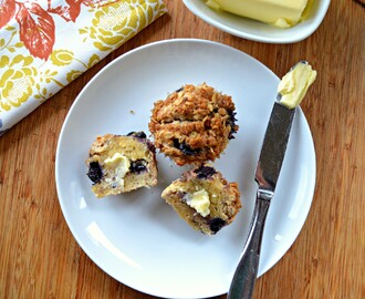 Blueberry Oatmeal Muffins With Streusel