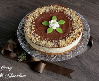 Tarta de queso con  bombones Ferrero Rocher y Nutella – Ferrero Rocher and Nutella cheesecake