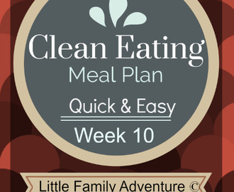 Clean Eating Meal Plan Week 10