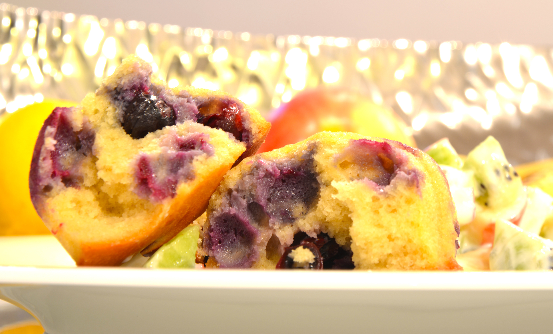 Low-Carb Blueberry-Muffins