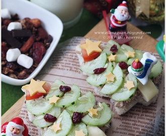 Christmas Tree Tuna Sandwich
