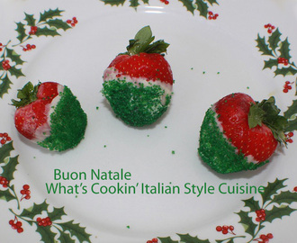 Christmas Italian Dipped Strawberries