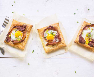 Festive puff pastry egg tarts