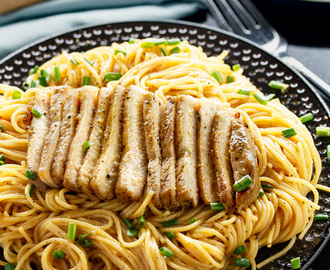 Grilled Asian Pork Chops with Sesame Noodles