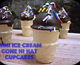 Mini Ice Cream Cone Hi Hat Cupcakes