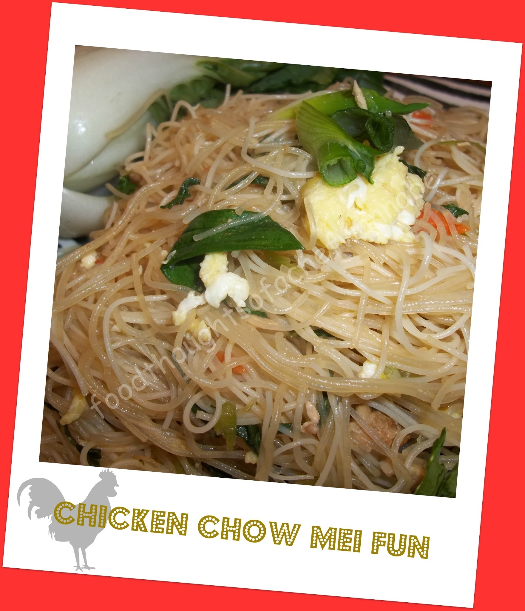 Chinese Takeout - Chicken Chow Mei Fun