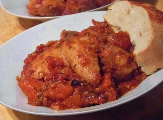 slow cooked chicken provencal.
