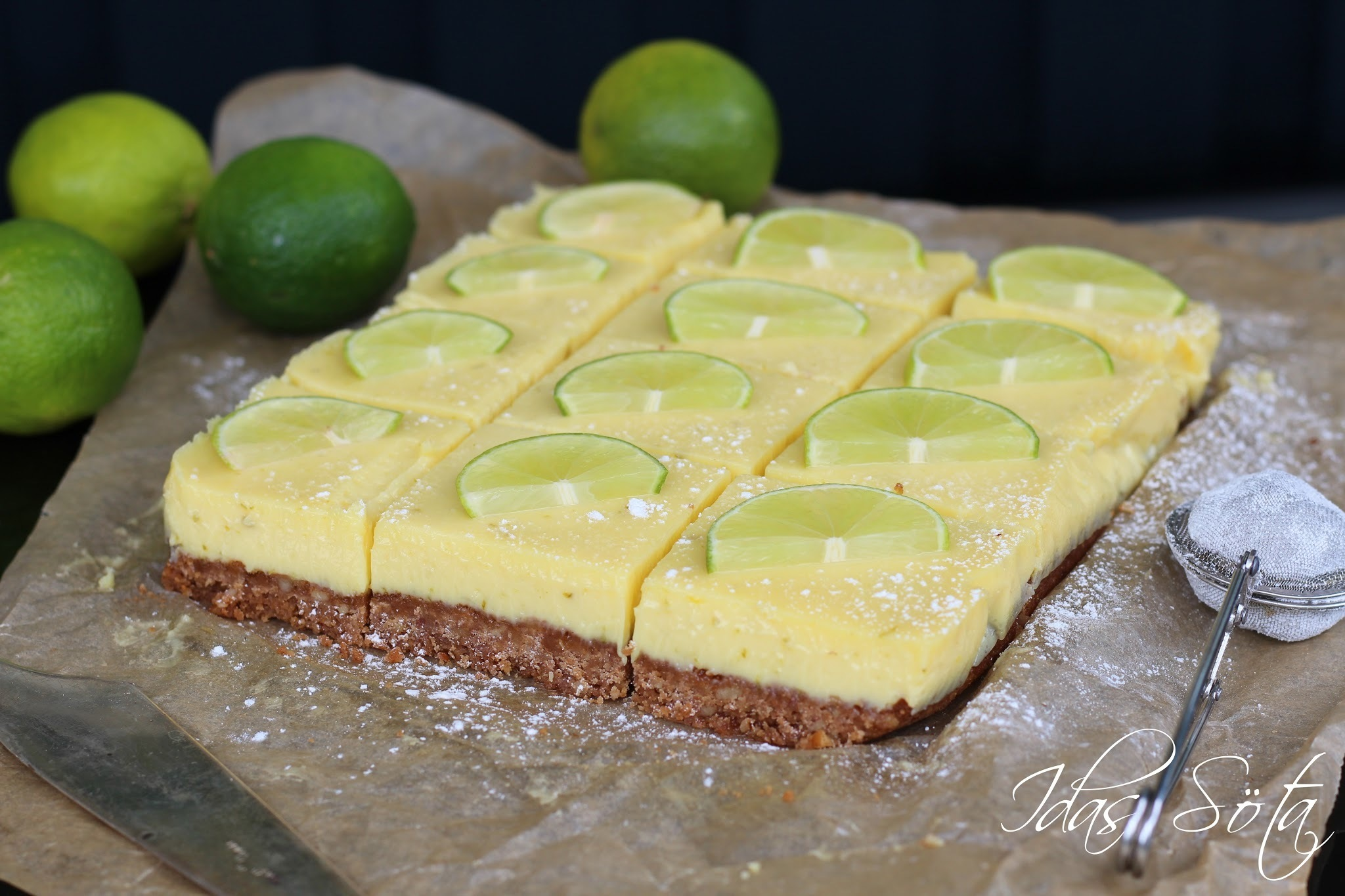 {Key lime pie bars}