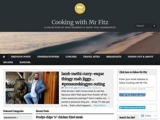 Cooking with Mr Fitz
