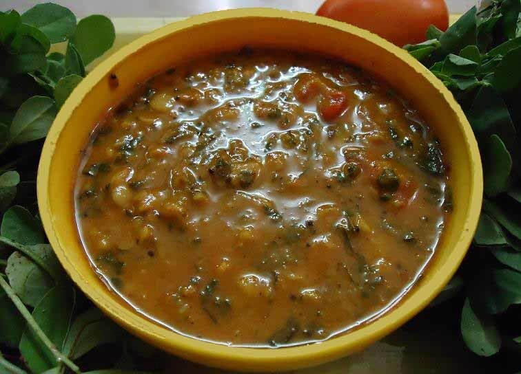 Simple Menthya Soppina Huli - Methi Leaves Sambar  - myindiarecipes.com