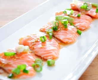 Zalm Carpaccio met Oosters tintje