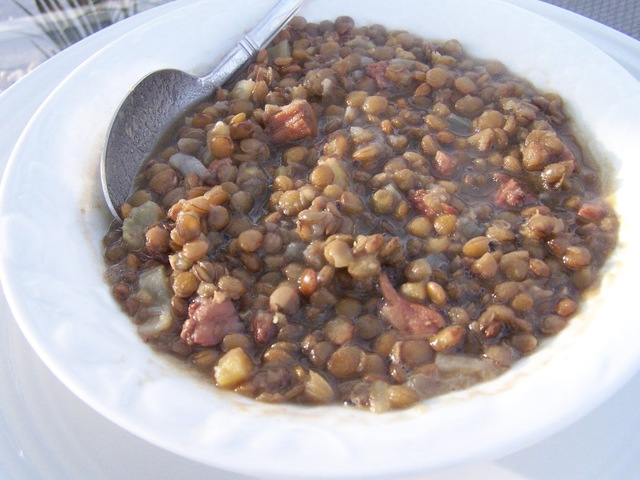 Skinny Gluten Free Hearty Ham and Lentil Soup