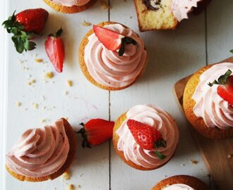 Nutella & Strawberry Cupcakes