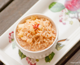 Sahrami-omenarisotto / Saffron Apple Risotto