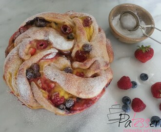 Triple Berry Custard Swirl Bread