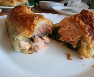 Madhouse recipe : Salmon & Spinach Puff-Pastry Parcels
