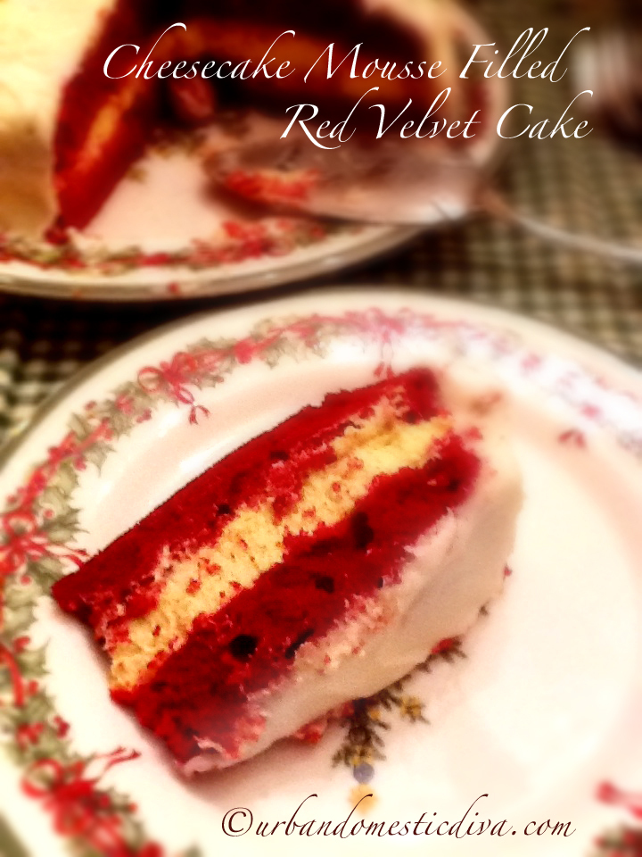 RECIPE: Cheesecake Mousse Filled Red Velvet Cake