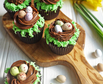 Easter Chocolate Nest Mini Egg Cupcakes – Kids Cooking