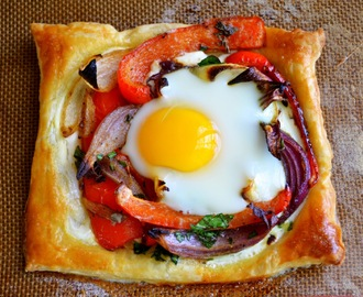 Red Pepper and Baked Egg Galettes from Jerusulem (the book)
