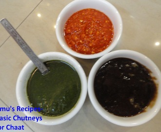 Basic chutneys for chaat