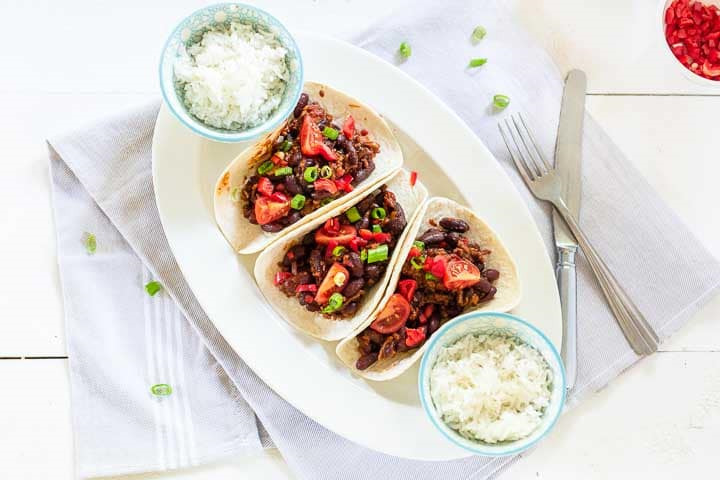 Tasty ground beef tacos