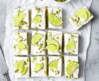 Avocado Limette Cheesecake Bars, No Bake Frischkäse Schnitten