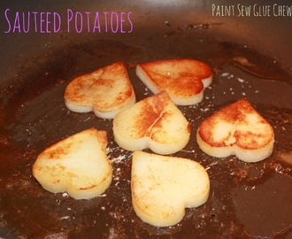 Sauteed Potatoes - The best use for leftover potato.