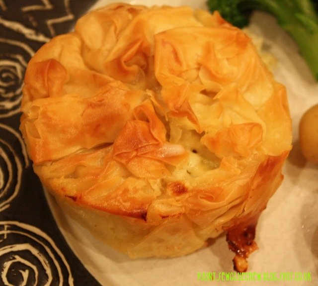 Smoked Fish, salmon and Leek Filo Tartlets