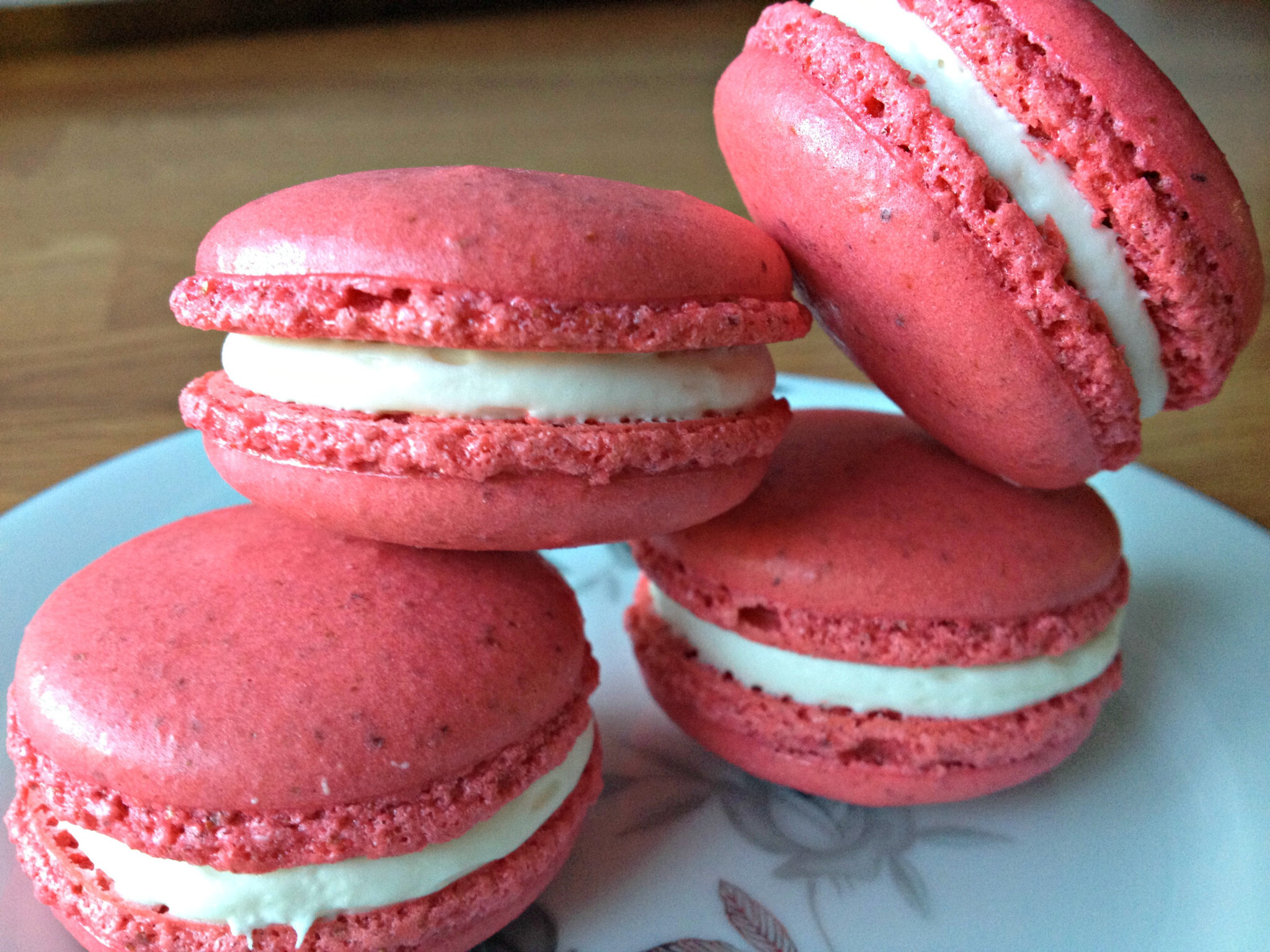 White Chocolate Peppermint French Macarons