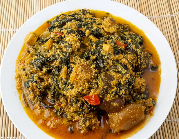 Authentic and appealing ofe awa,awa soup