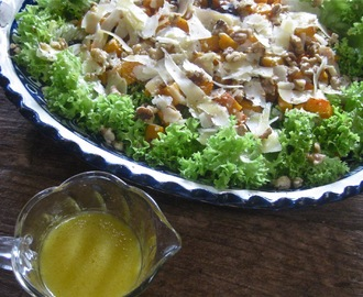 Roasted Butternut Squash Salad with Parmesan and Warm Cider Vinaigrette