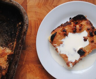 White Chocolate & Apricot Bread & Butter Pudding