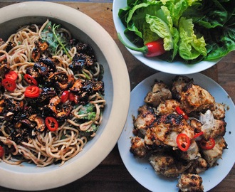 Chicken Satay with Spicy Noodle Salad